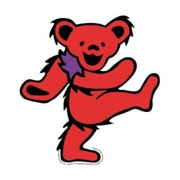 Amazon Com Grateful Dead Large Red Dancing Bear