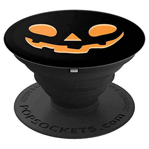 Pumpkin Face Jack-O-Lantern Funny Halloween Costume PopSockets Grip and Stand for Phones and Tablets]()