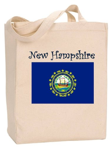 NEW HAMPSHIRE - FLAG - State Series - Natural Canvas Tote Bag with Gusset