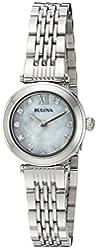 Bulova Women's Quartz Stainless Steel Dress Watch, Color:Silver-Toned (Model: 96P167)