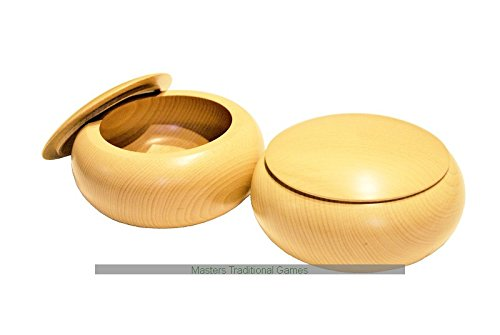 Wooden Go Bowls - Pair  Beech Woodの商品画像