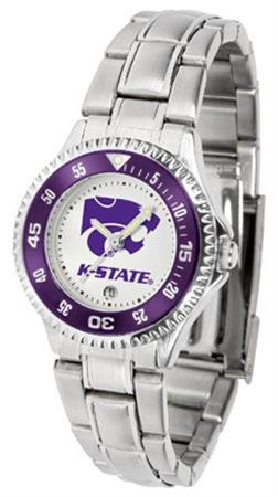(Linkswalker Ladies Kansas State Wildcats Competitor Ladies Steel Watch)