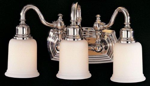 Feiss VS8003-PN Canterbury Glass Wall Vanity Bath Lighting, Chrome, 3-Light (18.5