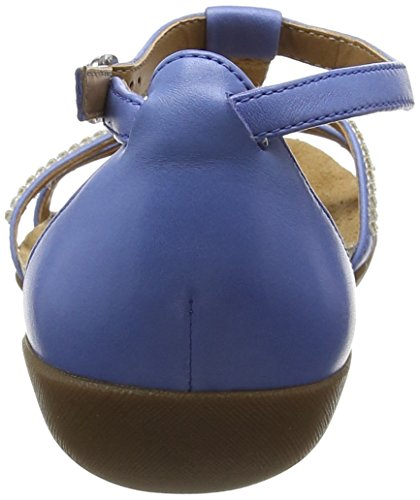 Clarks Raffi Star - Sandalias Mujer Azul (Blue Leather)