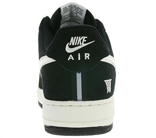 Nike Air Force 1 Zapatillas de baloncesto, Hombre Negro / Gris (Black / Sail-Wolf Grey)