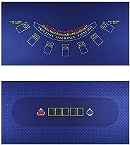 BALIKEN Texas Holdem,Blackjack, Flannel,Waterproof and dustproof Professional Gambling Tablecloth, 36x18 Inch,
