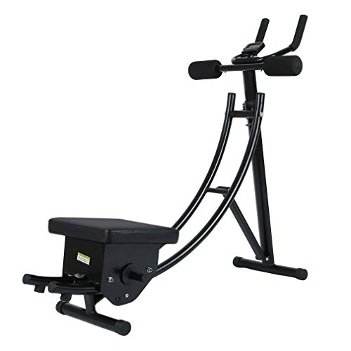 Belovedkai Ab Abdominal Coaster Crunch Ab Trainer Abdominal Exercise Machine/Equipment, Black
