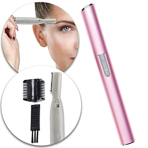 Make Up Beauty Ladies Electric Eyebrows Shaver Groomer Trimmer Shaving Trimming Shaping Grooming Tool In Pink Color
