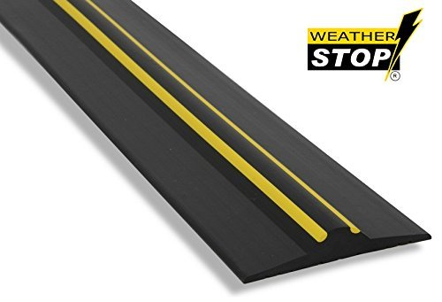 Weather Stop WS003-221 7.3-Inch x 20 mm High Garage Door Threshold Seal Kit - Black by Weather Stop by Weather Stop