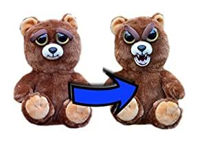 """William Mark Feisty Pets Sir Growls-A-Lot- Adorable Plush Stuffed Bear that Turns Feisty with a Squeeze, 8.5"""" L"""