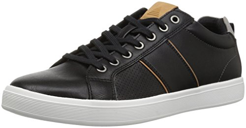 ALDO Men's Lovericia Sneaker, Black Leather, 10 D (Aldo Leather)