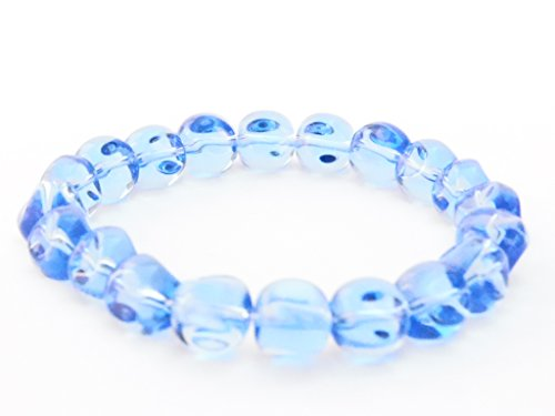 Blue Triangular Glass Bead Bracelet