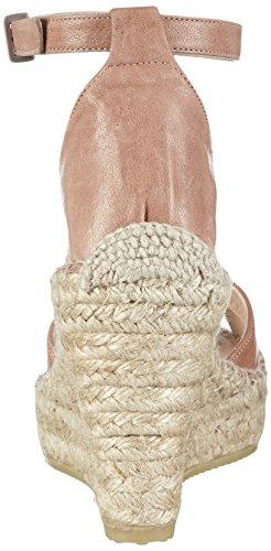 Fred de la Bretoniere Fred Elegant Cross Strap Elegant Espadrille 10cm Heel Calella, Espadrillas Basse Donna Beige (Beige (Nude))
