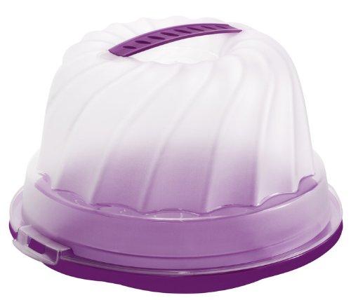 Rotho Gugelhupf Kuchenbehälter violett