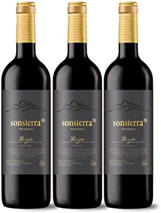 Estuche 3 botellas Sonsierra Reserva 13, Rioja, Vino Tinto 75cl.: Amazon.es: Alimentación y bebidas
