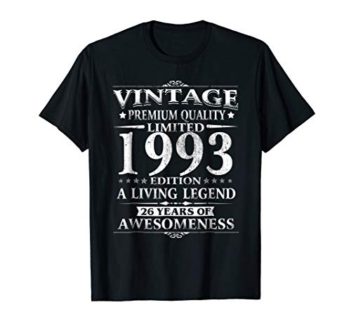 Vintage 1993 Perfectly - 26th Birthday 26 Years Old Shirt ()