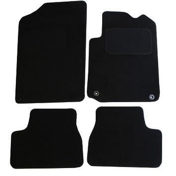 JVL – Citroen DS3 Totalmente a Medida Conjunto De Alfombrilla De Coche con 2 Clips, Color Negro