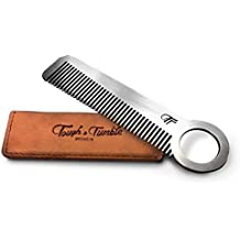 "Tough & Tumble Metal Comb ""The Revolve"" with Leather Sheath"