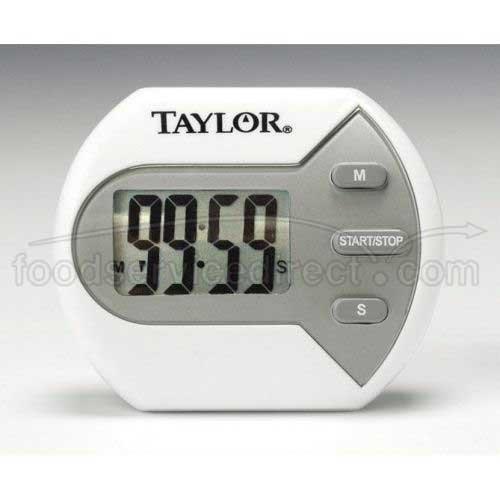 Taylor Classic Big Digital Kitchen/Cooking Timer, 2 1/2 x 2 1/8 inch -- 6 per case.