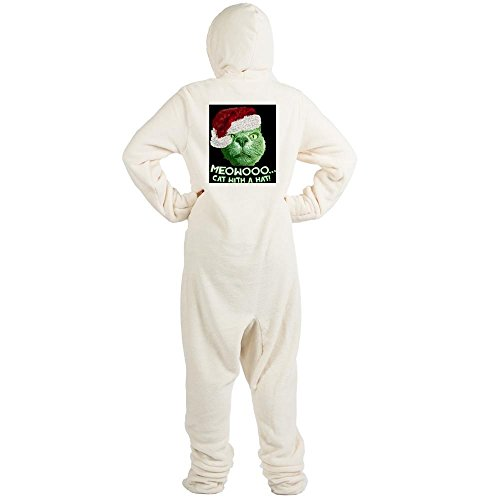 CafePress - Grinch - Novelty Footed Pajamas, Funny Adult One-Piece PJ Sleepwear (Sexy Grinch)