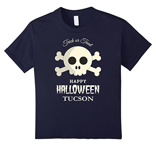 Kids Tucson Trick or Treat Happy Halloween Party T Shirt 12 Navy (Halloween Costumes In Tucson)
