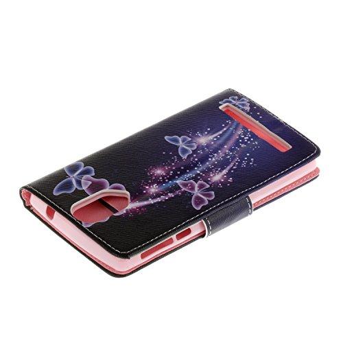 Ecoway Serie pintada Caja del teléfono de moda para Wileyfox Storm (5.5) - Starry sky Violet butterfly