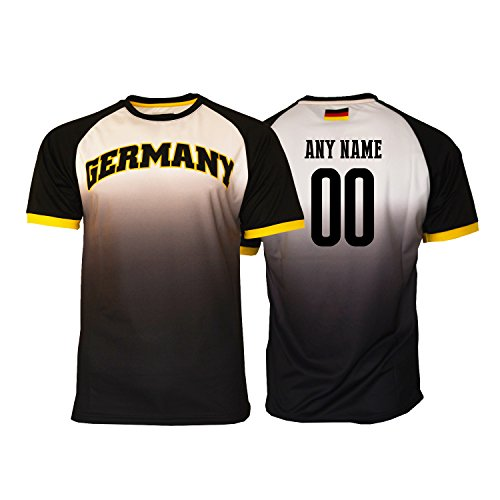 Pana Germany Soccer Jersey Flag German Adult Training World Cup Custom Name and Number (M, Custom name Fadded)