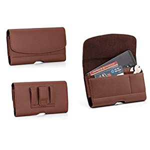 DOB® PU Leather Holster Pouch for Mi 11X Pro Belt Clip Cases Waist Bag Pack [ Size Up to 6.5 Inch] Mobile Phone Holder…