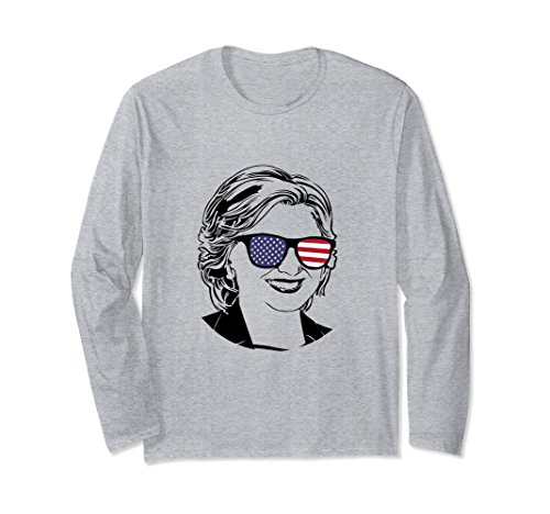 Unisex Hillary Clinton Long Sleeve T-Shirt Women Men Boys Girls Small Heather - Hillary Clinton Sunglasses