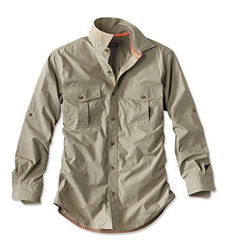 Orvis Men's Poplin Expedition Long-Sleeved Shirt, Khaki, Large
