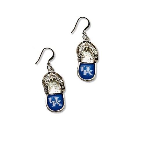 Earrings Crystal Kentucky Wildcats - NCAA Kentucky Wildcats Crystal Flip Flop Earrings