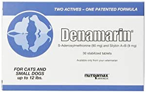 NutraMax Denamarin Tabs for Cats and Small Dogs upto 12-Pound-30 Tablets