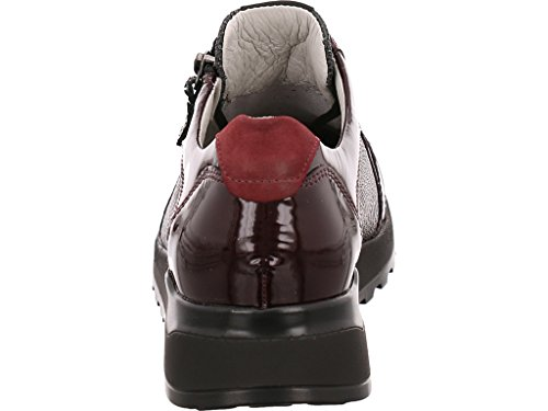 repujado cuero Waldläufer cordones para Zapatos 364023 mujer 401053 morado de de qwU0Yq