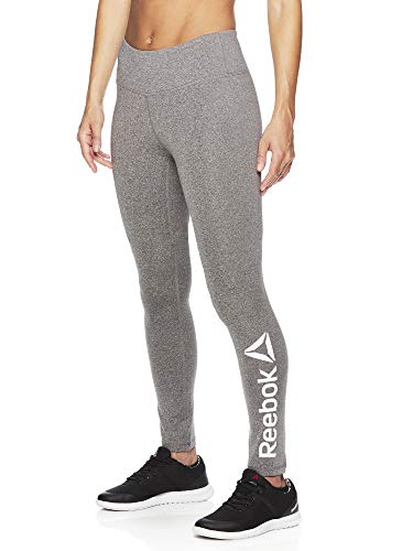 (Reebok Women's Legging Full Length Performance Compression Pants - Grey Fog Heather, X-Large)