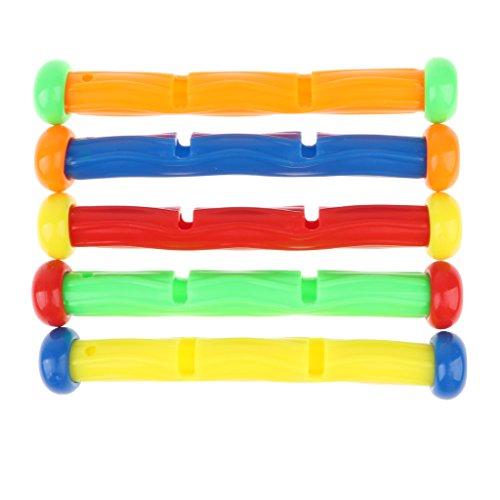 B Blesiya プラスチック製 デジタル ダイビングスティック プールおもちゃ 水中ゲームおもちゃ 5個入