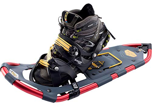 Atlas Snowshoes Company Men's Montane Mountain Hiking Snowshoes, Navy/Red, 30