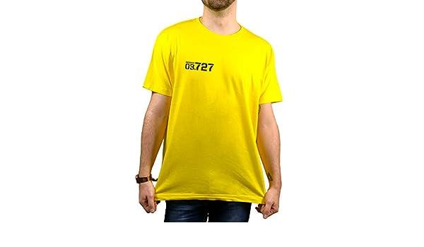 SUPERMOLON Camiseta Amarilla Unisex Vis a Vis Maca (S): Amazon.es: Ropa y accesorios