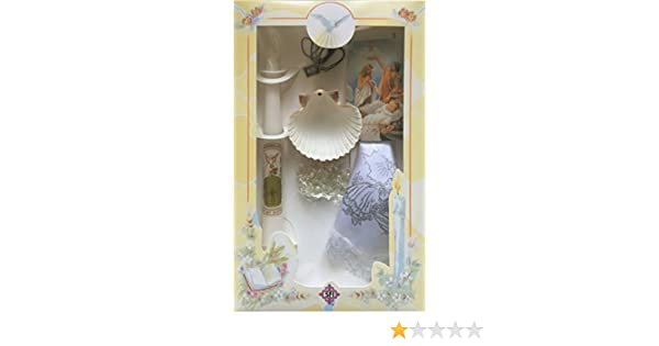 Amazon.com: New Boys or Girls Christening Baptism Candle Box Gift Set Shell Missal in English: Home & Kitchen