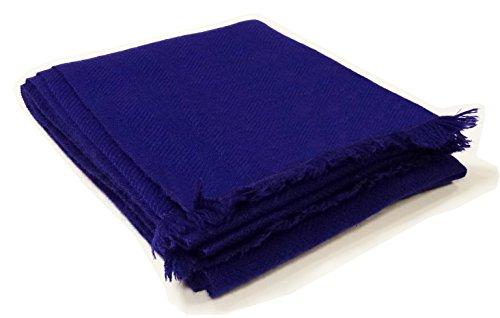 Super Morbido Mano A Nepal Kuukoo In Comodo Cashmere Inverno 100 Marmitta Pashmina Blue Fatto Sciarpa Pq1P7Z