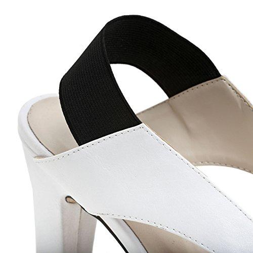 ESTRADÀ by Scarpe&Scarpe - Sandalias altas con elástico trasero, con Tacones 10 cm Blanco