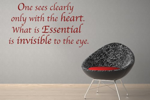 One Sees Clearly only with the Heart. What is Essencial is Invisible to the Eye Wall Decal by Style & Apply - highest quality wall decal, sticker, quotes and sayings (Hazelnut Eye)