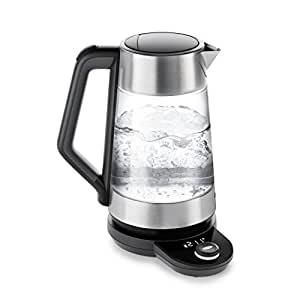 OXO On Cordless Glass Adjustable Temperature Electric Kettle, Stainless Steel
