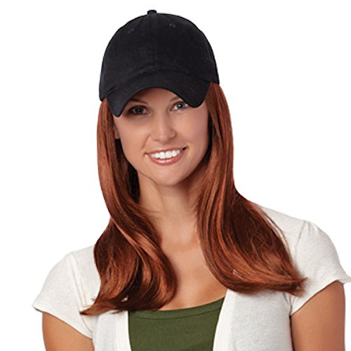 Baseball Accent - Henry Margu (Long Hat Black) - Synthetic Baseball Cap Wig in 14H