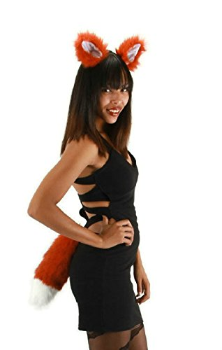 Foxy The Pirate Fox Costume For Kids (OvedcRay Fox Ears And Tail Set Brown Red Adult Fox Foxy Animal Costume Accessory Kit)