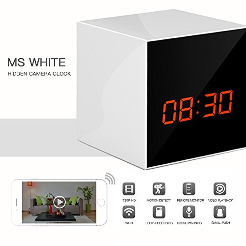 Hidden Circle (PANORAXY PA-W100V.3 P2P IP Spy Security Cam,Invisible Lens,8Mtrs Night View,IOS Android App for Mobile PAD,with 16G Toshiba SD, Continuous Power Battery,Time Stamp in Video,Circle Record(White))