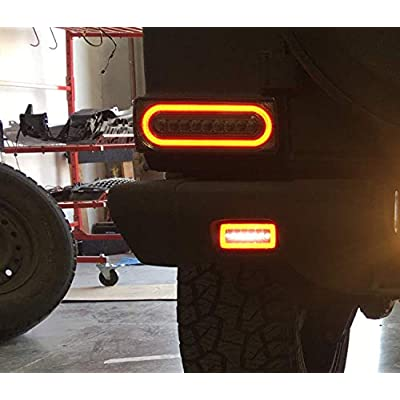 iJDMTOY Smoked Lens 3-In-1 LED Rear Fog Backup Light Kit Compatible With 1986-2020 Mercedes Benz W463 G-Class G500 G550 G55 G63 AMG, Functions as Rear Fog Driving Brake & Reverse Lights: Automotive