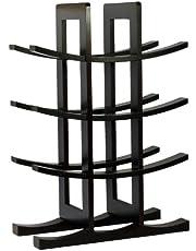 Oceanstar 12-Bottle Bamboo Wine Rack, Dark Espresso