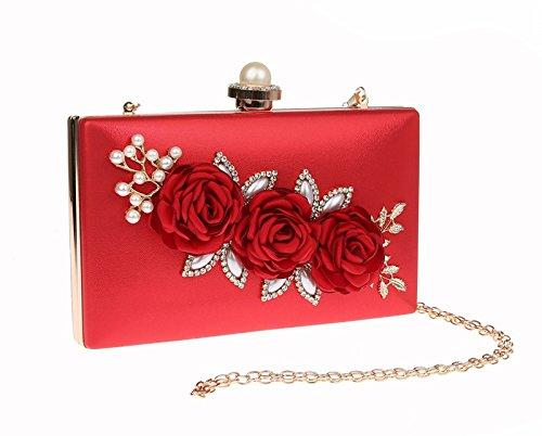 TOOKY - Bolso mochila  de poliuretano para mujer Red