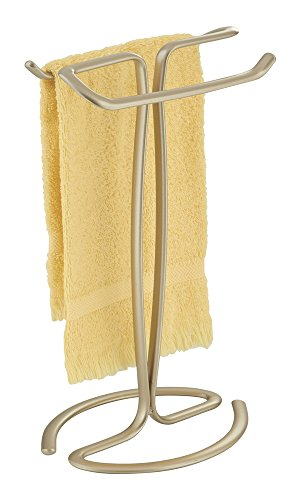 mDesign Hand Towel Holder for Bathroom Vanities - Pearl Champagne