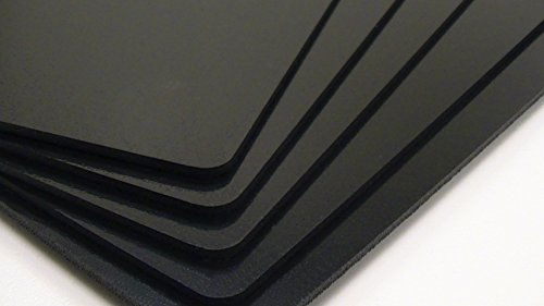 Utilaboard 1.3x Expansion Closed Cell Microcellular Extruded Polypropylene PP Foam Sheet 3 mm x 12 x 24 Inch Black 25% less weight than solid HDPE Sheet High Density Polyethylene Replacement, 5/Pack - Black Packing Foam